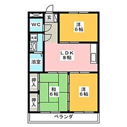 メゾン徳V[3階]の間取り