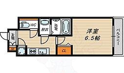 京阪本線 京橋駅 徒歩9分の賃貸マンション 3階1Kの間取り