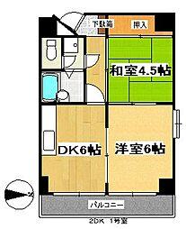 ランドマーク支倉[4階]の間取り