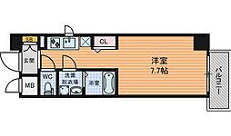 レジュールアッシュ梅田LUXE 10階1Kの間取り