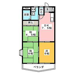メゾン・オオシマB[3階]の間取り