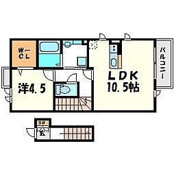 My Dear Life 七松 II[2階]の間取り
