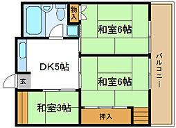 ミツダコーポ[4階]の間取り