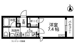 新築PHARE/ファーレ 1階1Kの間取り