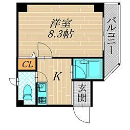 メゾン・フィオーレ[1階]の間取り