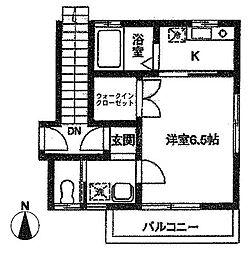 ウィステリア・アサヒII[2階]の間取り