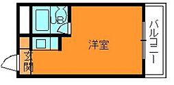 奈良県生駒郡斑鳩町興留9丁目の賃貸アパートの間取り