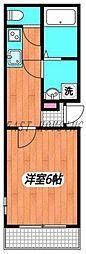 JR山手線 新宿駅 徒歩5分の賃貸マンション 3階1Kの間取り