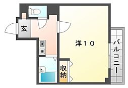 コボックス太子橋[3階]の間取り