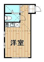 神奈川県川崎市幸区小向西町3丁目の賃貸アパートの間取り