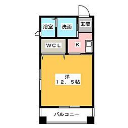リバーフロントレジデンス[4階]の間取り