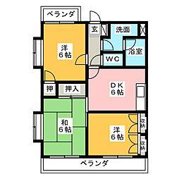 エトワール石田[4階]の間取り