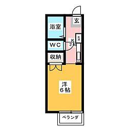 リバティスクエアA棟[1階]の間取り