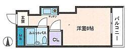 ドミール長居[3階]の間取り