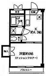 ベルフォーレ・K3 bt[302kk号室]の間取り