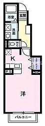 岡山県倉敷市東富井丁目なしの賃貸アパートの間取り