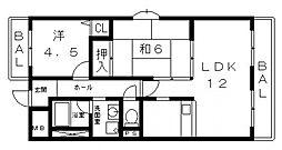 タウンコート咲久良[605号室号室]の間取り