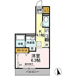 JR東海道本線 川崎駅 バス13分 台町下車 徒歩11分の賃貸アパート 1階1Kの間取り