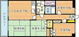 サンライフ鳴水(分譲賃貸)[5階]の間取り