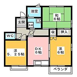 成沢コーポ[2階]の間取り