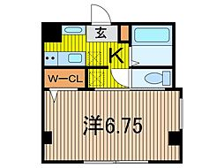 (仮)芝新町新築計画 5階1Kの間取り
