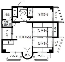 福岡県春日市惣利2丁目の賃貸マンションの間取り