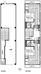 1階店舗、2・3階は1LDK角部屋です