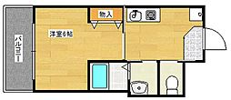 アジールコート[4階]の間取り