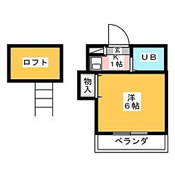 サニーハイム桜[2階]の間取り