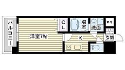 Osaka Metro長堀鶴見緑地線 今福鶴見駅 徒歩1分の賃貸マンション 13階1Kの間取り