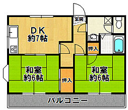 兵庫県尼崎市西大物町の賃貸マンションの間取り