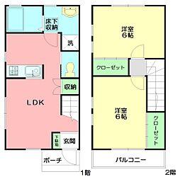 [テラスハウス] 神奈川県秦野市戸川 の賃貸【/】の間取り