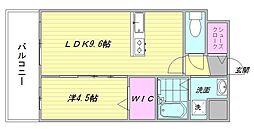 CLUB博多駅南レジデンス[702号室]の間取り