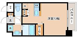 JR山陽本線 新長田駅 徒歩2分の賃貸マンション 3階ワンルームの間取り