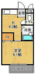 エトワール夙川[1階]の間取り