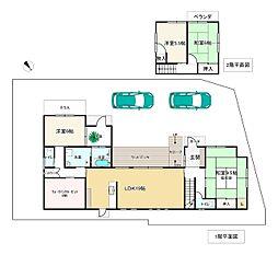 JR東海道・山陽本線 土山駅 バス11分 野谷下車 徒歩2分 4LDKの間取り