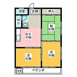 カスミハイツ[2階]の間取り