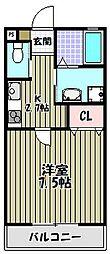 AQUOS深井[3階]の間取り