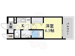 レジュールアッシュ淡路駅前 6階1Kの間取り