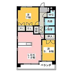 クレストII[3階]の間取り