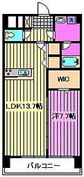 プレリュード桜木町[4階]の間取り