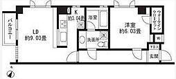 レジディア三軒茶屋2[2階]の間取り