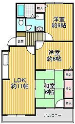 フローラル夙川[3階]の間取り