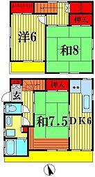 [一戸建] 千葉県松戸市栄町7丁目 の賃貸【/】の間取り