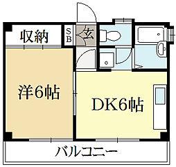 ナ・トゥール上賀茂[3階]の間取り