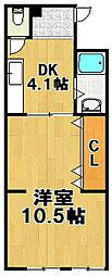 マンションいし井[2階]の間取り