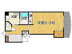 兵庫県姫路市伊伝居の賃貸マンションの間取り