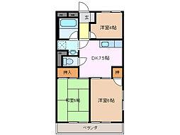 シャトレ平田[3階]の間取り