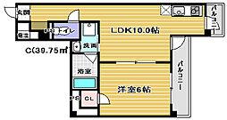 シティーコート北瓦町EX[4階]の間取り