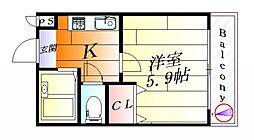 ウェル千里[6階]の間取り